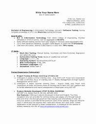 Best Ideas Of Resume Format For 1 Year Experience Dot Net Developer