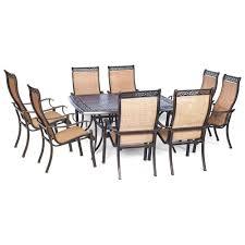 hanover manor 9 piece square patio dining set