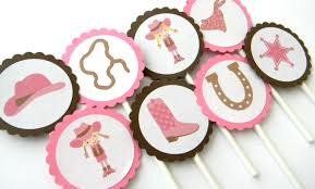 Cowgirl Birthday Decorations 12 Cowgirl Cupcake Toppers Cowgirl Birthday Horse Theme