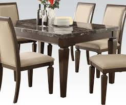 Round Marble Table Set Dining Room Table Hamilton Marble Dining Table Set Mohagany Finish