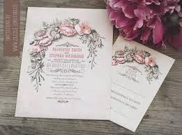 Vintage Wedding Invitation Vintage Wedding Invitation With Floral Wreath Need Wedding Idea