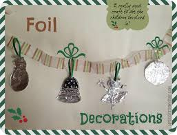 Easy Christmas Crafts Easy Christmas Crafts 2 Foil Decorations Speech Room Style