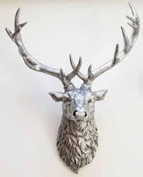 silver deer head wall stunning deer head wall decor new silver animal head wall decor