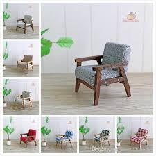 simple wooden sofa chair.  Sofa 112 Dollhouse Miniature Furniture Wood Single Sofa Chair Couch Model Simple  Dolls With Accessories Boy Baby Doll From Harrychinaboy  Inside Wooden W