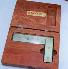 starrett no 55 3 inch machinist square in wooden box 600cb sold