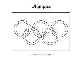 Olympic Games Flag Coloring Page Murderthestout