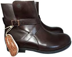 birkenstock brown leather collins ankle booties flat boots buckles shoes 41 10