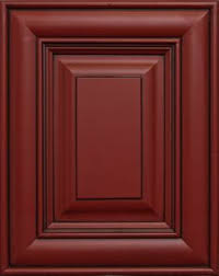 red and black furniture. red with black glaze consider this for base cabinets instead of darker stain and furniture