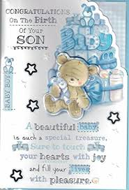 Congratulations On Your Baby Boy New Baby Boy Card Congratulations On The Birth Of Your Gorgeous