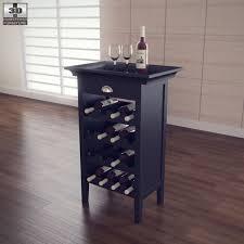 black wine cabinet. Exellent Wine Black Wine Cabinet  Powell Furniture 3DOcean Item For Sale To