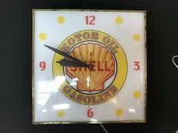 gas station lighted wall clock