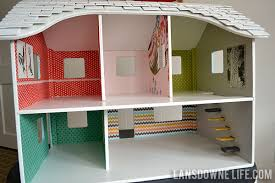 building doll furniture. repainted dollhouse with wallpaper building doll furniture b