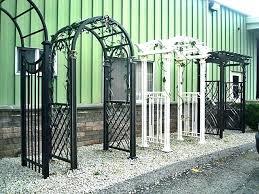 iron metal arbor with gate trellis antique wrought garden rose arch custom
