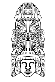 Adult Coloring Pages Mayan Mask 2