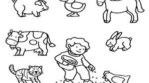 Farm Animal Printables Excellent Baby Farm Animal Coloring Pages