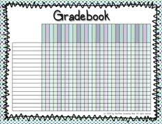 Grade Book Template Microsoft Word After Playing Around With A Few Different Templates I Came