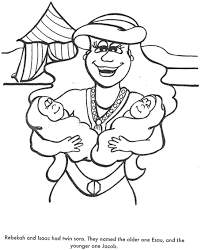 Bible Coloring Pages Isaac And Rebekah Kid Crafts Isaac And