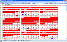 Chinese Calendar Template Chinese Calendar Excel Templates