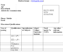 Biodata Format Download for new resume sample | Freshers | Job ... sample biodata resume format