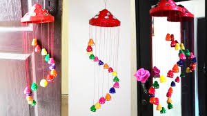 Decorative Items With Paper Newspaper Wall Hanging Newspaper Wind Chime Youtube