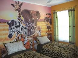 wonderful jungle baby room ideas showing some animal wall art