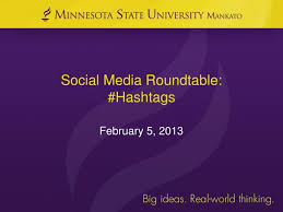 social media roundtable hashtags