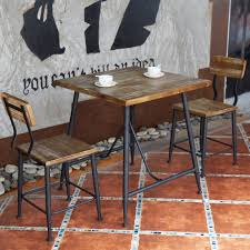 wrought iron and wood furniture. American Casual Home To Do The Old Wrought Iron Wood Furniture Simple Retro Negotiate Cafe Tables And