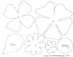 Paper Flower Template Free Free Printable Flower Templates Large Flower Template Large Flower