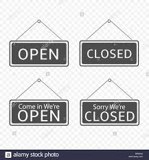 Closed Signs Template Open And Closed Hanging Signs Template Isolated Vector