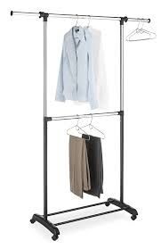 standing clothes rack. Simple Standing Amazoncom Whitmor Adjustable 2Rod Garment Rack  Rolling Clothes  Organizer Black And Chrome Home U0026 Kitchen Intended Standing M