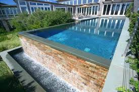 infinity pool edge detail. Infinity Pool Edge Negative Rimless Pools Contemporary Swimming Detail D