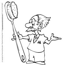 Tandarts Met Tandenborstel Kleurplaat Jouwkleurplaten