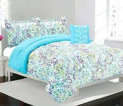 alice girls kids bedding comforter set blue leopard print animal print quilts comforters leopard print quilt