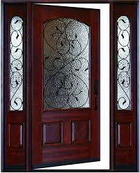 exterior front doors with sidelightsExterior Front Entry Valencia Deluxe Wood Door with Sidelights