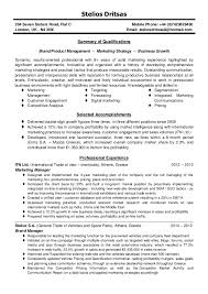 Marketing Manager Resume Summary Cv Brand Product Marketing Manager