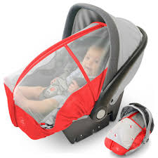 summer baby car seat cover red