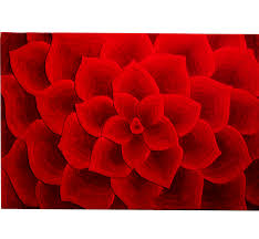 a rose tufted rug is available at pier 1 imports