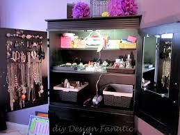 Diy Jewelry Cabinet Diy Design Fanatic Organized Armoire