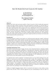 "(PDF) ""Don't Be Afraid of the Novel: Austen for ESL Students"""