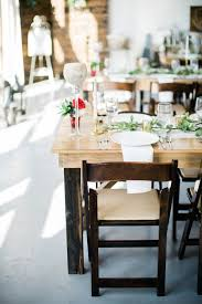 wooden wedding tables and chairs