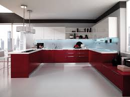 Contemporary Kitchen Lacquered High Gloss Airone Torchetti Cucine Ipc427 -  High Gloss Kitchen Cabinet Design Ideas