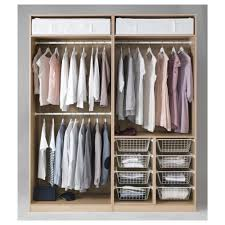 clothes hanging with ikea pax planner with lighting lamp for bedroom decor