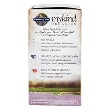 garden of life mykind organics prenatal once daily whole food multivitamin 90 vegetarian tablets
