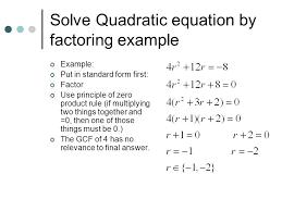 solving quadratic equations what does x solving quadratic