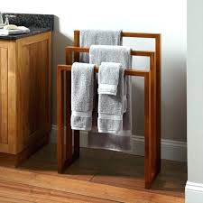 free standing towel racks for small bathrooms wooden trendy freestanding rack bathroom photos and s ideas 5