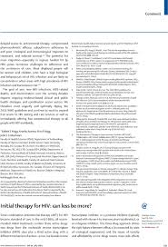 initial therapy for hiv can less be more the lancet infectious  first page of article