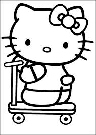 Kitty Op De Step Kleurplaat Jouwkleurplaten
