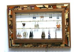 wall mount organizer designer jewelry organizer wall mount jewelry storage wood jewelry organizer wooden mosaic wall