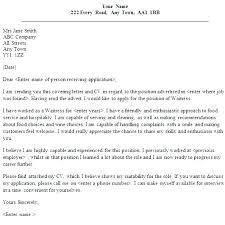 21 Waitress Cover Letter Sample Professional Waitress Cover Letter ...