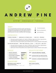 Resume Of Trainer Health And Fitness Expert Resume Templates By Canva